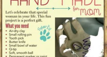 Sparky lends a hand in creating the perfect gift for mom