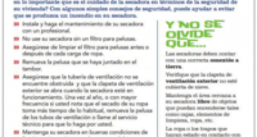Two of NFPA's fire safety tip sheets are now available in Spanish