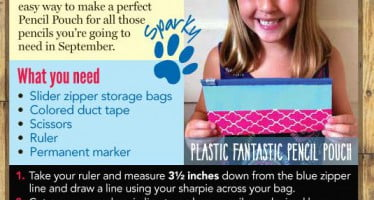 Sparky's Perfect Plastic Pencil Pouch is a fun activity that gets your kids ready for school