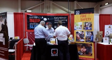 "Conference and Expo attendees ""Hear the Beep"" and head over to the NFPA booth"