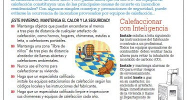 Heating safety tips sheet now available in Spanish