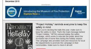 In the December issue of Safety Source: new Dan Doofus video, Project Holiday resources, Christmas tree burn video & more