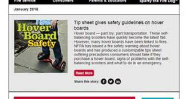 In the January issue of Safety Source: space heater safety tips, hoverboard safety, and more!
