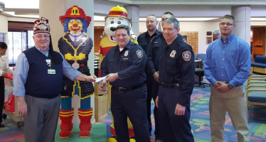 "Sparky, Fire Departments, and Shriners Hospital ""Team up"" for Burn Awareness Week"