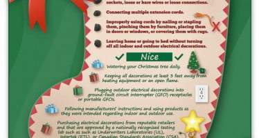 Electrical Safety Foundation International offers many holiday safety resources