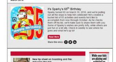 En la edición de marzo de la seguridad de la fuente: 65 cumpleaños de Sparky, acaparamiento hoja de consejos de seguridad contra incendios, peligros linterna del cielo & Más