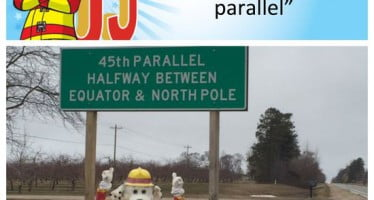 Sparky checks off bucket list item #4: walks the 45th parallel