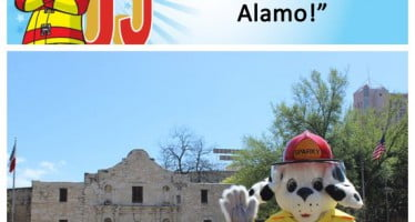 Sparky checks off bucket list item #6: Visit the Alamo