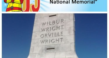 Sparky checks off bucket list item #7: Visitar el Memorial de los hermanos Wright,en