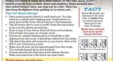 NFPA's new tip sheet on security bars: how to be safe from crime and fire
