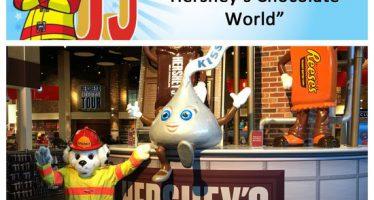 Sparky checks off bucket list item #12: Visit Hershey's Chocolate World