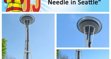 Sparky checks off bucket list item #13: Visit the Space Needle in Seattle