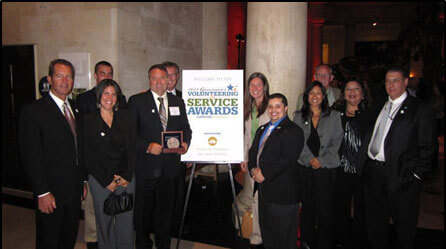 Santa Barbara County CERT Committee received California Volunteers Governors Award in 2012 at the Los Angeles Natural History Museum
